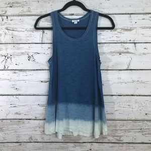 Splendid blue ombre tank top